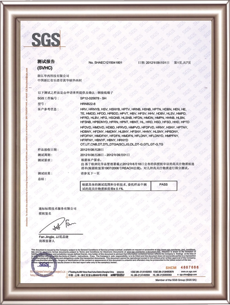 Environmental protection certificate